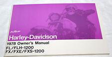 Original Harley Davidson 1978 Shovelhead Owners Manual NOS #99460-78 NOS (51)