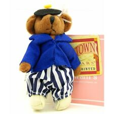 "RUSS BERRIE Tiny Town Miniature Jointed Plush Teddy Bear Nautical Sailor 3-1/2"""