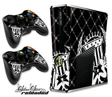Skin Decal Wrap for Xbox 360 Slim Gaming Console & Controller Xbox360 Slim RLOAD