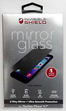 NEW Zagg InvisibleShield iPhone 6/6s MIRROR GLASS Screen Protector Case Friendly