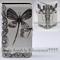 For HTC One X10 U11 Play Ultra Desire 530 Dragonfly Print Flip Wallet Phone Case