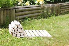 Chemin ou allée en lattes de bois massif ext/ int -  130 x 31 cm