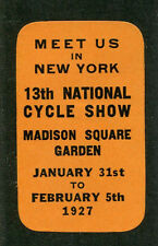 Vintage Poster Stamp  1927 NY 13th National Cycle Show Madison Square Garden