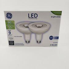 2 GE LED 90 Watt PAR38 Outdoor Non-Dimmable Floodlight Light Bulb Bright White
