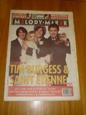MELODY MAKER 1993 DEC 11 SAINT ETIENNE TIM BURGESS