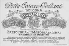 3249) BOLOGNA, CARTOLERIA ALL'INSEGNA DEL PALOMBO DITTA CESARE GALIANI.