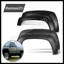 88-98 Chevy GMC C/K 1500 Black Pocket Rivet Style Fender Flares Wheel New