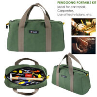 Multi-function Canvas Waterproof Storage Hand Tool Bag Portable Toolkit PouchBag