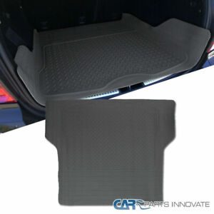 Grey Trunk Cargo Floor Mat For Car SUV Van Truck All Weather Rubber Auto Liners