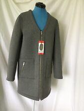 Ladies Grey Steve Madden Zip Up Jacket Coat M