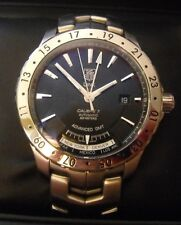 WJ2010.BA0591 TAG HEUER LINK 24 CITY ADVANCED GMT CALIBRE 7 MENS BLACK WATCH