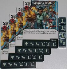 4 x AMANDA WALLER: WHITE QUEEN 1 Green Arrow and The Flash Dice Masters