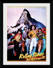 THE ROLLING STONES * On Tour 76-mounted & framed print