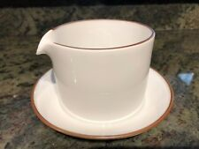 DOMINO BROWN Royal Copenhagen Gravy Boat & Attached Stand USED