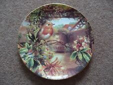 Wedgwood Bone China Plate Robin and Honeysuckle Old English Gardens Collection