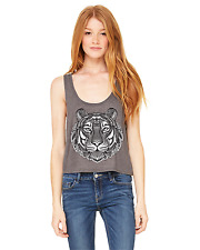 Ladies' Flowy Boxy Tank Tiger Head  design All colors all sizes