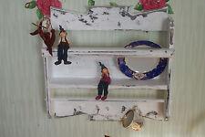 Shabby Regal,Küchenregal,,Wandboard,weiß,Tellerboard,Landhaus..UNIKAT