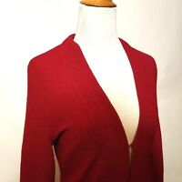 Chico's Travelers Size 0 sweater open front cardigan red