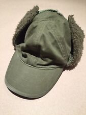 Diesel Men's Winter Military Cap Rare Fur Ear Flap S 11 Baseball Hat