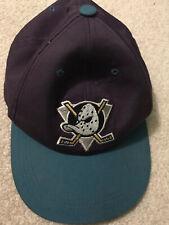 Vintage Rare Mighty  Ducks NHL Purple Snapback. Vintage Hockey Hat