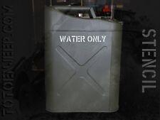 stencil pochoir jerrycan jerrican water eau 3 us jeep WILLYS GPW WW2