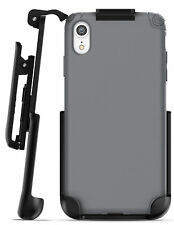 iPhone XR Belt Clip Holster Case / Cover Thin Grip Protective Cover (Nova) Grey