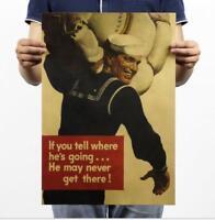 Sailor / World War II / Kraft Paper Poster / Bar Cafe Decorative Painting