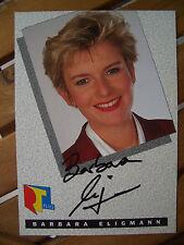 """Autogrammkarte""""Barbara Eligmann""""Original Unterschrift"""