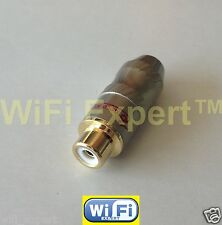RCA Jack Audio Cable Female Connector Gold Snake up to 1/4 inch thick in diametr