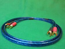 Samurai  TRUE 12 Gauge Wire Speaker Cable 2 Spades to 2 Spades , 8 Ft.