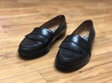Cole Haan Fringe Loafer Size 10.5 Slip On Black Leather
