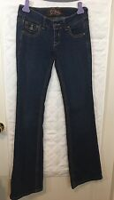 C Pink Juniors Jeans Size 3 Dark Wash Bootcut Stretch B1