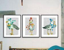 3 Unique Nautical Art prints Seagull & Chips Bathroom Dictionary Monica LaTanya