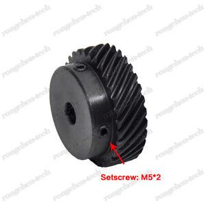 1 Mod 40T Helical Gear 45 Degree Helix 8-16mm Bore 45# Steel Spiral Bevel Gear