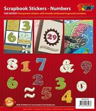 Card Making & Scrapbook Stickers Numbers Transparent Gold