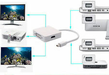 3in1 Mini DP Thunderbolt to DVI VGA HDMI Adapter for Apple Mac Mini Pro Air iMac