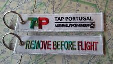 TAP Portugal remove before flight keyring keychain
