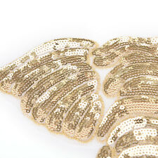 Gold heavy lace bead elephant cloth animal clothing back embroidery DIY sewingTB