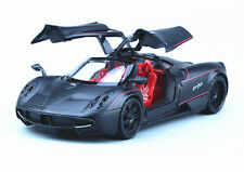 Motormax 1:24 Pagani Huayra Diecast Model Roadster Car Matte Black New in Box