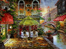 """Beautiful Venice Landscape Oil Painting Printed on canvas 12""""x16"""" L081"""