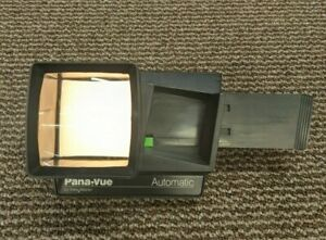 Pana-Vue Automatic View Master Viewfinder Lighted 2x2 Slide Magnification Works