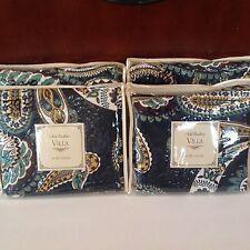 Noble Excellence Villa FONTANA Paisley Quilted Linen Blend~EURO SHAM~NIP~$39
