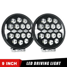 2X 150W 9INCH Round LED Light Work Wide Spot Driving SUV 4WD Fog Offroad Truck