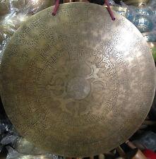 Gong Tibetano 36 cm 1,5Kg Meditacion chakra . Mantra Carven Hand Made Nepal