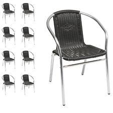 9 Sück Org. Mojawo® Aluminium / Polyrattan Stapelstuhl Bistrostuhl Gartenstuhl