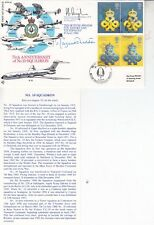 Rare RFDC82 Queens Awards FIRST DAY COVERC Flown & Signed Margaret Thatcher PM