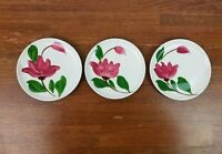 Stetson China Rio China Tulip Time Bread & Butter Plates Hand Painted Vintage
