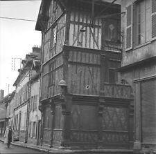BAR SUR SEINE c. 1950 - Vieilles Maisons Aube - Négatif 6 x 6 - GE 83
