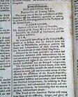 Nice MASSACHUSETTS SPY by Isaiah Thomas w/ John Adams Address 1798 Newspaper