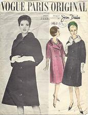 1961 Vintage VOGUE Sewing Pattern B40 COAT (1342) By JEAN DESSES